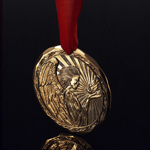 Limited Edition 2020 Annual Ornament – Angel of Peace Gold Plated Wendell August