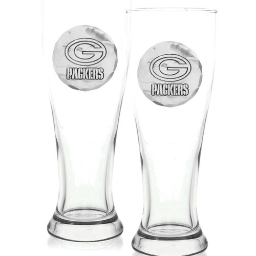 Green Bay Packers 2-Piece Pilsner Set Wendell August