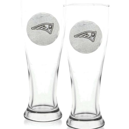 New England Patriots 2-Piece Pilsner Set Wendell August