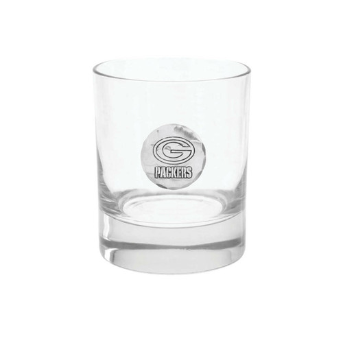 Green Bay Packers Rocks Glass Wendell August