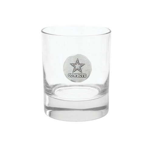 Dallas Cowboys Rocks Glass Wendell August