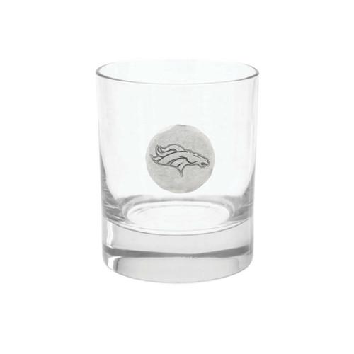 Denver Broncos Rocks Glass Wendell August