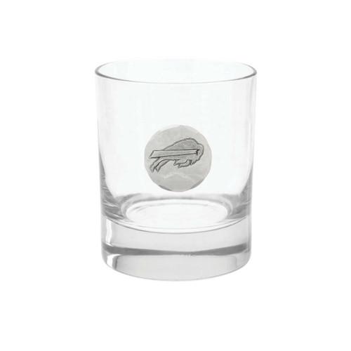 Buffalo Bills Rocks Glass Wendell August