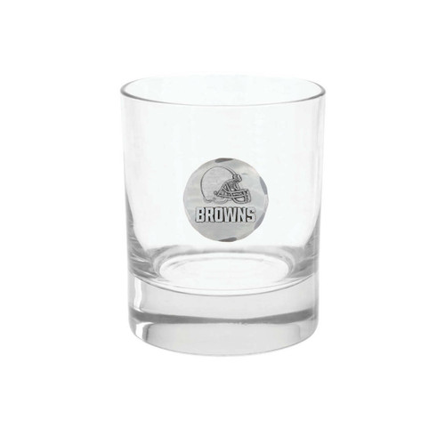Cleveland Browns Rocks Glass Wendell August