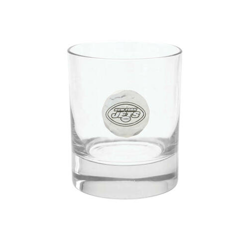 New York Jets Rocks Glass Wendell August