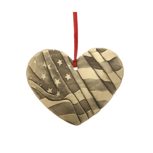Heart of America Ornament Bronze Wendell August