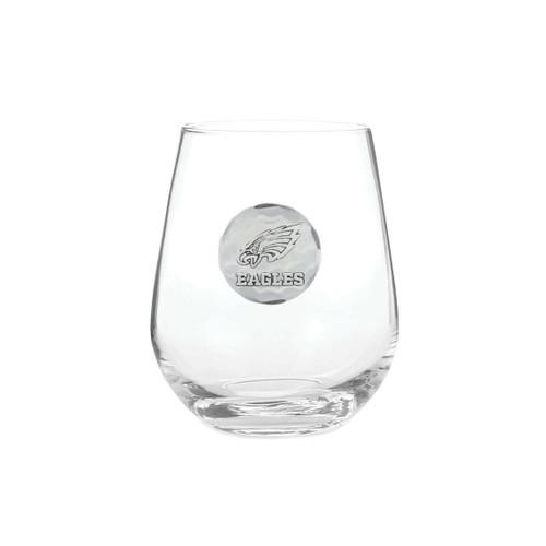 Philadelphia Eagles Stemless Wine Glass Aluminum Wendell August