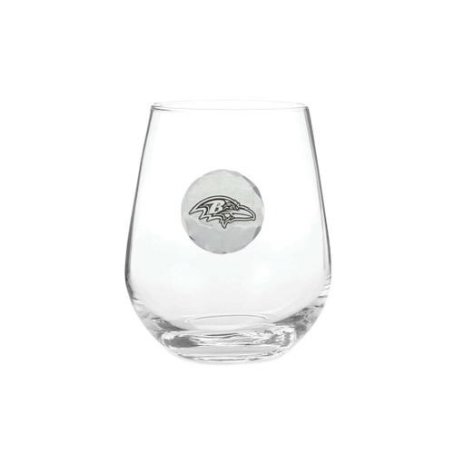 Baltimore Ravens Stemless Wine Glass Wendell August