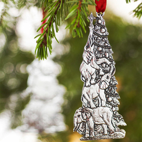 Holiday Zoo Elephant Ornament Wendell August