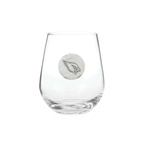 Arizona Cardinals Stemless Wine Glass Wendell August