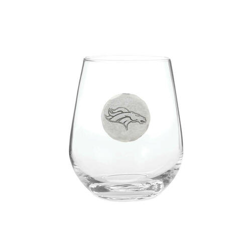 Denver Broncos Stemlelss Wine Glass Wendell August