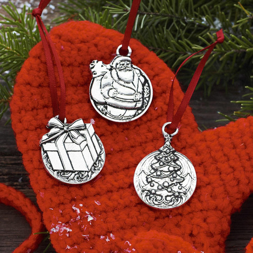 Meaning of Christmas Jolly 3 Piece Ornament Set Wendell August