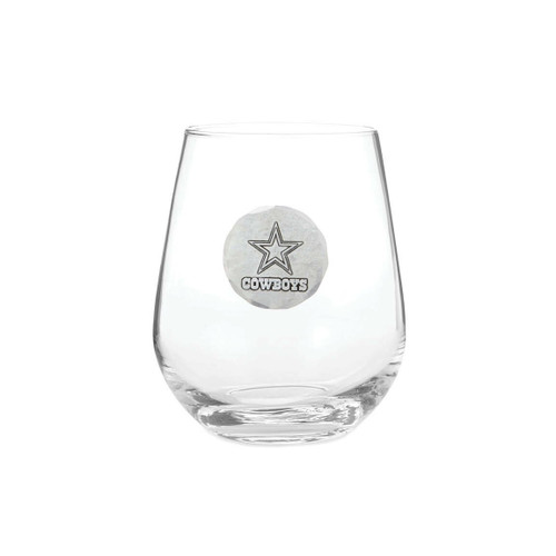 Dallas Cowboys Stemless Wine Glass Wendell August