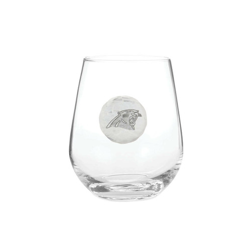 Carolina Panthers Stemless Wine Glass Wendell August