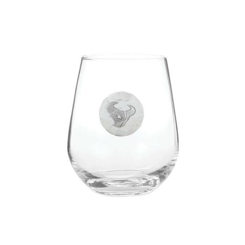 Houston Texans Stemless Wine Glass Wendell August