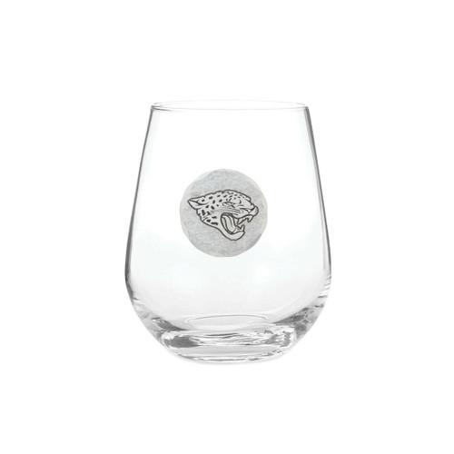 Jacksonville Jaguars Stemless Wine Glass Wendell August