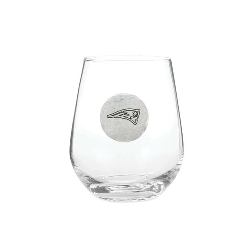 New England Patriots Wine Glass Wendell August