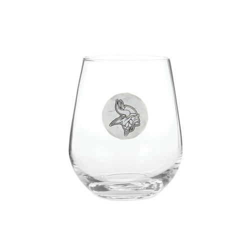 Minnesota Vikings Wine Glass Wendell August