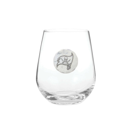 Tampa Bay Buccaneers Stemless Wine Glass Wendell August