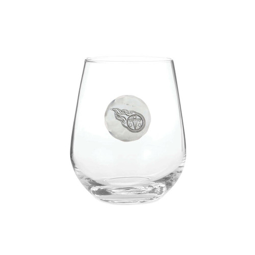 Tennessee Titans Stemless Wine Glass Wendell August