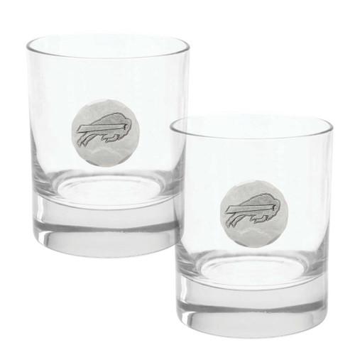 Buffalo Bills 2-Piece Rocks Glass Set Wendell August