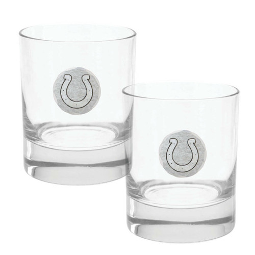 Indianapolis Colts 2-Piece Rocks Glass Set Wendell August