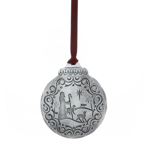 Vintage Nativity Shepherds Ornament Wendell August