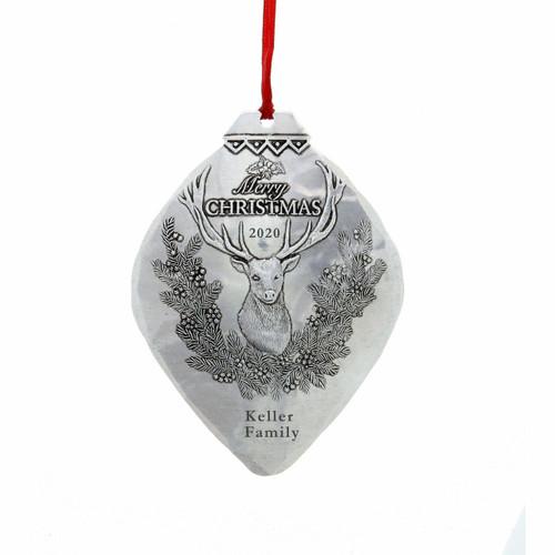 Christmas Deer Ornament Aluminum Wendell August