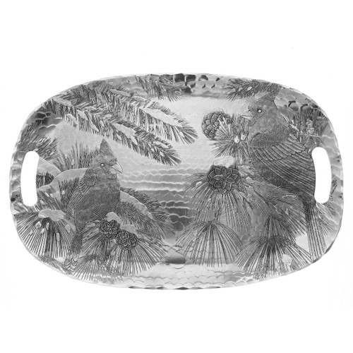 Winter Cardinal Luncheon Tray Wendell August
