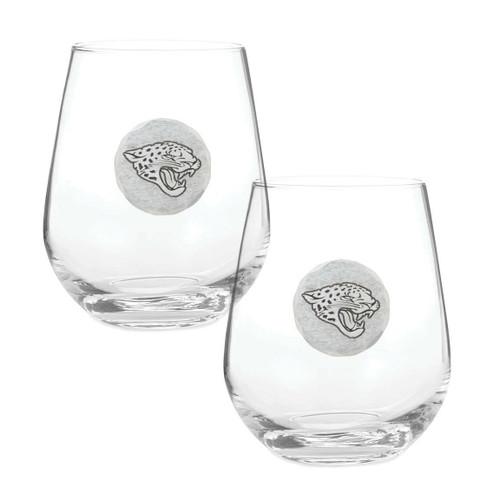 Jacksonville Jaguars 2-Piece Stemless Wine Glass Set Wendell August