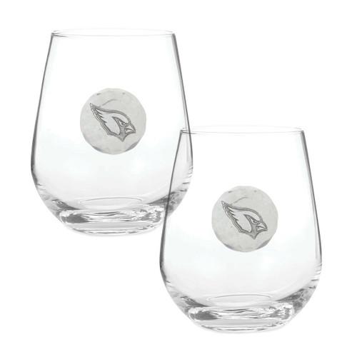 Arizona Cardinals 2-Piece Stemless Wine Glass Set Wendell August