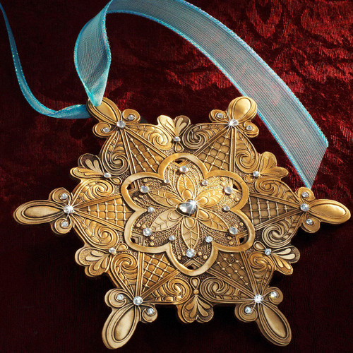 Snow Crystal Love Ornament Bronze Wendell August