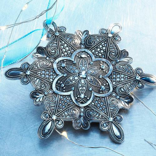 Snow Crystal Love Ornament Aluminum Wendell August