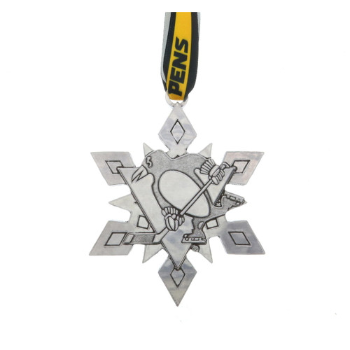 2020 Annual Pittsburgh Penguins Snowflake Ornament Aluminum Wendell August