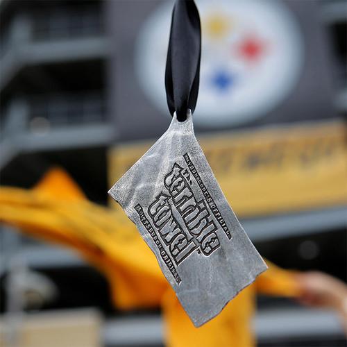 Pittsburgh Steelers Terrible Towel Ornament Aluminum Wendell August