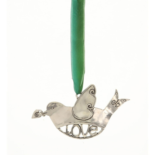 Love with Heart Birds in Flight Ornament Wendell August