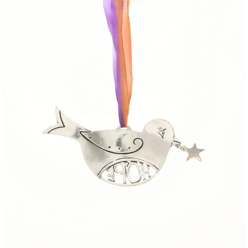 Hope with Star Birds in Flight Ornament Wendell August