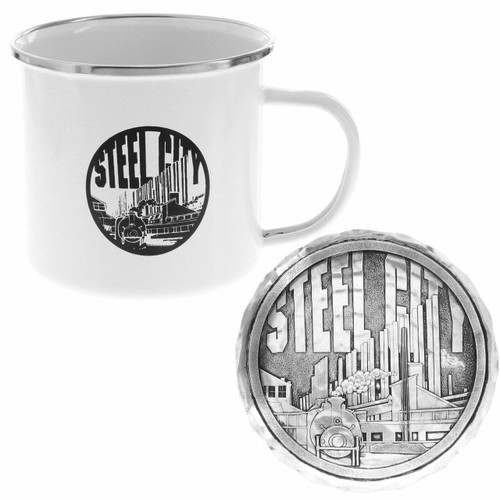 Pittsburgh Steel City Mug and Coaster Set Wendell August