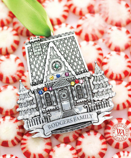 Personalized Gingerbread House Ornament Wendell August