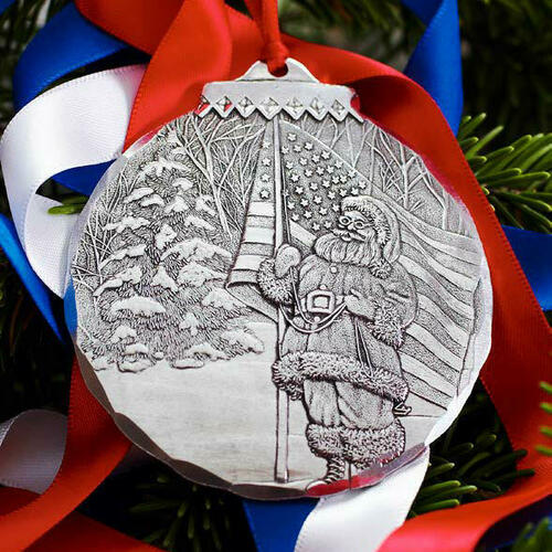 Patriotic Santa Ornament Wendell August