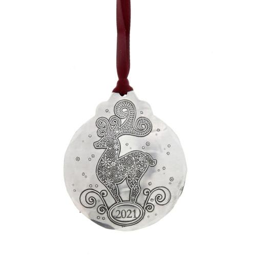 2021 Snowflake Deer Ornament Wendell August
