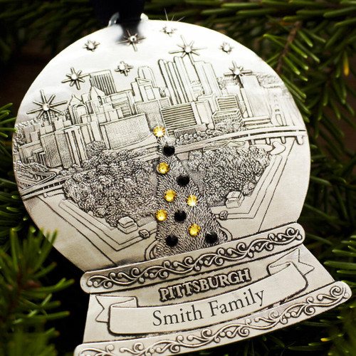 Pittsburgh Snow Globe Ornament Wendell August