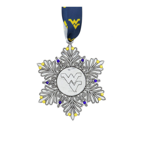 2020 Limited Edition West Virginia University Snowflake Ornament Wendell August