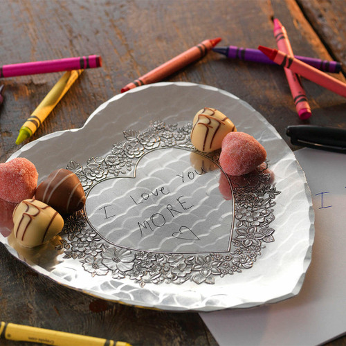 Loveheart Tray with Custom Love Notes Engraving Wendell August