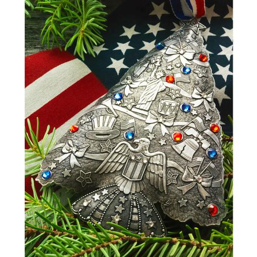 Americana O Christmas Tree Ornament Aluminum Wendell August