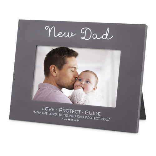 Blessed New Dad Photo Frame Wendell August