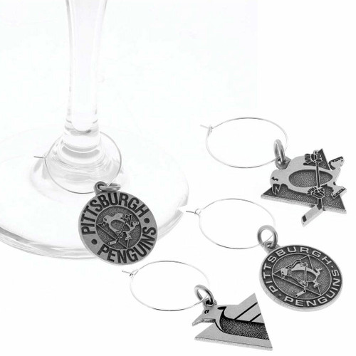 Pittsburgh Penguins Wine Charm Set Wendell August