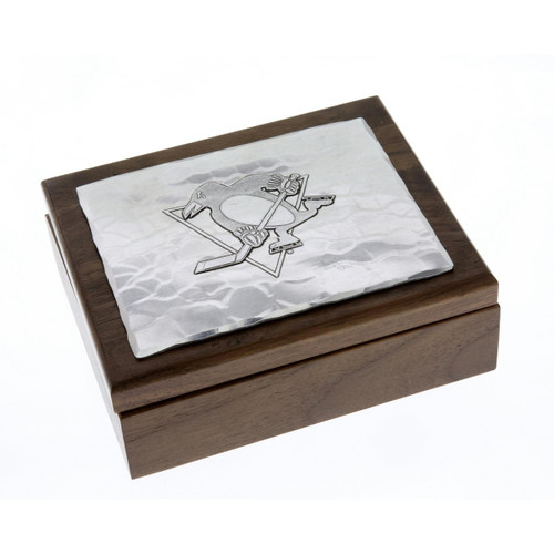 Pittsburgh Penguins Walnut Box with Note Cards Wendell August