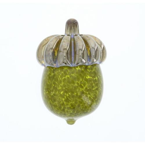 Vessel Glass Handblown Acorn Paperweight - Olive Green Wendell August
