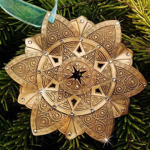 Snow Crystal North Star Ornament Bronze Wendell August